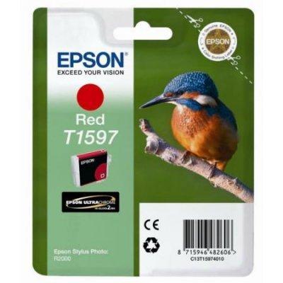 Картридж для струйных аппаратов Epson C13T15974010 красный (C13T15974010) оригинальные подлинный epson epson r2000 разбирать картриджа для epson t1590 t15