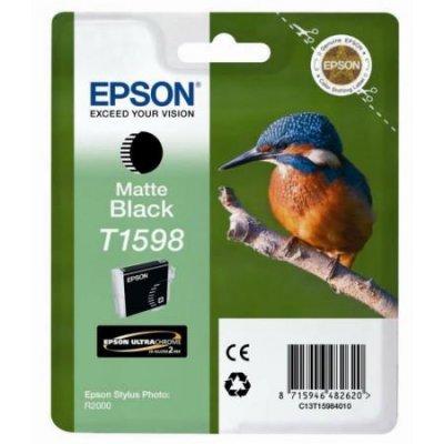 Картридж для струйных аппаратов Epson C13T15984010 фото черный (C13T15984010)Картриджи для струйных аппаратов Epson<br>для Stylus Photo R2000<br>