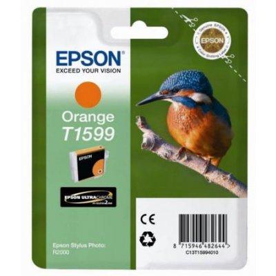 Картридж для струйных аппаратов Epson C13T15994010 оранжевый (C13T15994010)Картриджи для струйных аппаратов Epson<br>для Stylus Photo R2000<br>