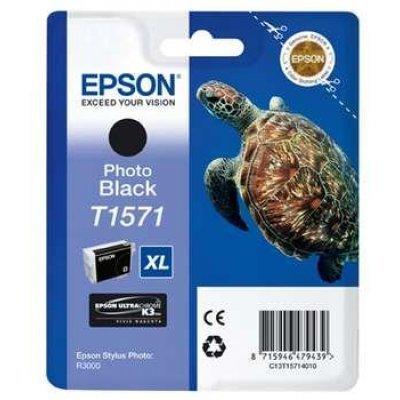 Картридж для струйных аппаратов Epson C13T15714010 фото черный (C13T15714010)Картриджи для струйных аппаратов Epson<br>для Stylus Photo R3000 (850стр)<br>