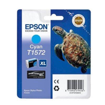 Картридж для струйных аппаратов Epson C13T15724010 голубой (C13T15724010)Картриджи для струйных аппаратов Epson<br>для Stylus Photo R3000 (850стр)<br>