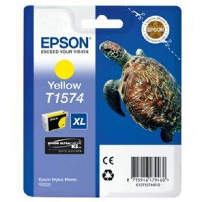 Картридж для струйных аппаратов Epson C13T15744010 желтый (C13T15744010)Картриджи для струйных аппаратов Epson<br>для Stylus Photo R3000 (850стр)<br>