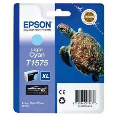 Картридж для струйных аппаратов Epson C13T15754010 голубой (C13T15754010)Картриджи для струйных аппаратов Epson<br>для Stylus Photo R3000 (850стр) light<br>
