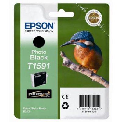 Картридж для струйных аппаратов Epson C13T15914010 фото черный (C13T15914010)Картриджи для струйных аппаратов Epson<br>для Stylus Photo R2000<br>