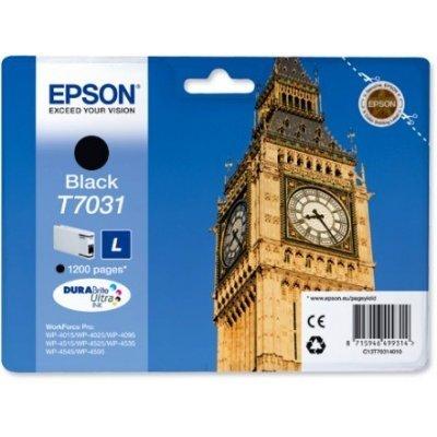 Картридж для струйных аппаратов Epson C13T70314010 черный (C13T70314010)Картриджи для струйных аппаратов Epson<br>для I/C WP 4000/4500 1.2k<br>