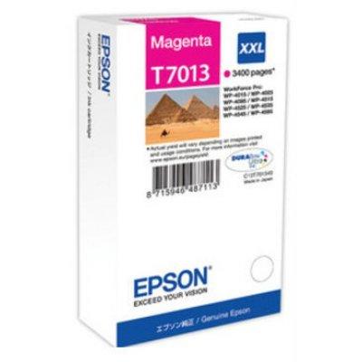 Картридж для струйных аппаратов Epson C13T70134010 пурпурный (C13T70134010)Картриджи для струйных аппаратов Epson<br>WP 4000/4500 Series Ink XXL Cartridge Magenta 3.4k<br>