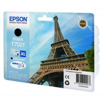 Картридж для струйных аппаратов Epson C13T70214010 черный (C13T70214010)Картриджи для струйных аппаратов Epson<br>WP 4000/4500 Series Ink XL Cartridge Black 2.4k<br>