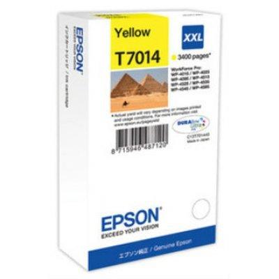 Картридж для струйных аппаратов Epson C13T70144010 желтый (C13T70144010)Картриджи для струйных аппаратов Epson<br>WP 4000/4500 Series Ink XXL Cartridge Yellow 3.4k<br>