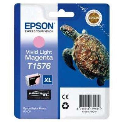 Картридж для струйных аппаратов Epson C13T15764010 пурпурный (C13T15764010)Картриджи для струйных аппаратов Epson<br>для Stylus Photo R3000 (850стр) vivid light magenta<br>