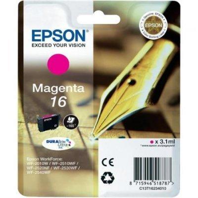 Картридж для струйных аппаратов Epson C13T16234010 T1623 пурпурный (C13T16234010)Картриджи для струйных аппаратов Epson<br>для WF2010 стандартной емкости<br>