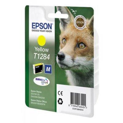 Картридж для струйных аппаратов Epson C13T12844011 T1284 желтый (C13T12844011)Картриджи для струйных аппаратов Epson<br>для S22/SX125.<br>