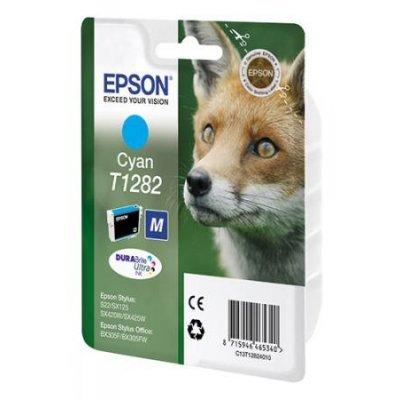 Картридж для струйных аппаратов Epson C13T12824011 T1282 голубой (C13T12824011)Картриджи для струйных аппаратов Epson<br>для S22/SX125.<br>