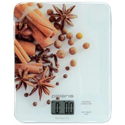 Весы кухонные Polaris PKS0832DG белый (PKS0832DG spec)Весы кухонные Polaris<br>специи<br>