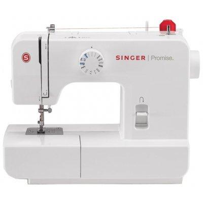 Швейная машина Singer Promise 1408 белый (PROMISE 1408)Швейные машины Singer<br>электромеханическая швейная машина<br>освещение рабочей зоны<br>8 швейных операций<br>полуавтоматическая обработка петли<br>обметочная строчка<br>рукавная платформа<br>отсек для аксессуаров<br>