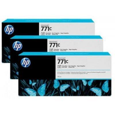 Картридж для струйных аппаратов HP 771C (B6Y37A) фото черный (B6Y37A)Картриджи для струйных аппаратов HP<br>для HP Designjet Z6200 Printer series 775 мл, 3 шт. в упаковке<br>