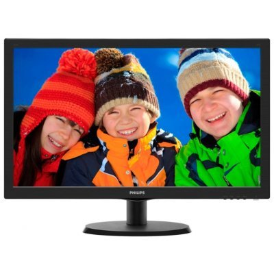 Монитор 22 Philips 223V5LSB (00/01) (223V5LSB (00/01))Мониторы Philips<br>LED, LCD, Wide, 1920x1080, 5 ms, 170°/160°, 250 cd/m, 10M:1, +DVI)<br>