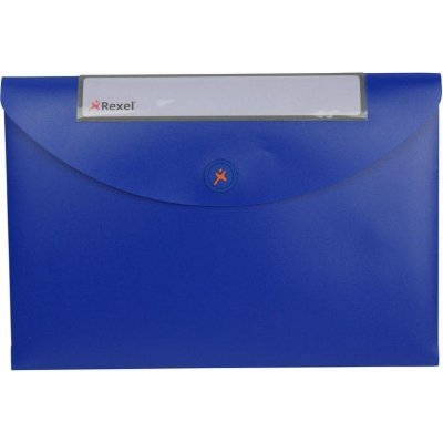 Папка Rexel Optima пластиковая, для документов, A4, синяя (3шт.) (2102480) (2102480)
