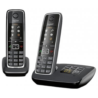 Радиотелефон Gigaset C530A Duo черный (C530 AM DUO) gigaset a415a