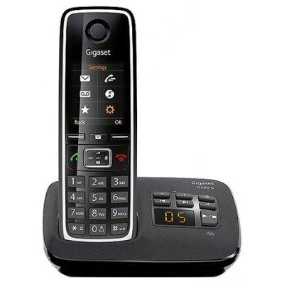 Радиотелефон Gigaset C530A черный (C530 AM) дополнительная трубка gigaset a220h для a220