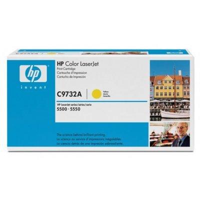 Картридж HP (C9732A) к HP CLJ 5500/5550 (12000 стр.), желтый (C9732A)