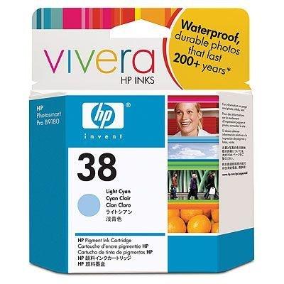 Картридж HP № 38 (C9418A) для Photosmart pro B9180 светло-голубой (C9418A)Картриджи для струйных аппаратов HP<br>Получайте стойкие к выцветанию фотографии выставочного качества, портреты и художественные репродукции, используя фирменные пигментные чернила HP Vivera. Печатайте на различных типах фотобумаги и бумаги для произведений изобразительного искусства и получайте превосходные отпечатки, отличающиеся водо ...<br>