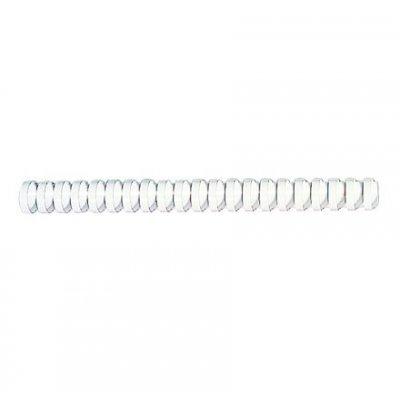 Пружина для переплета Fellowes 38мм белый (FS-53494) (FS-53494)Пружины для переплета Fellowes<br>Пружина пластиковая овальная Fellowes диаметром 38мм, шаг 14.28мм (21 кольцо) сшивает 281-340 листов. Обладает высокой упругостью на разжим, надежно удерживает листы в переплете. Снабжена 4 замками по всей длине. Возможно многократное использование. Предназначена для переплета всех видов документов. ...<br>