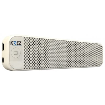 Аудио минисистема KREZ AB-311 белый (AB-311MW)Портативная акустика KREZ<br>Выходная мощность - 4Вт, Bluetooth, функция Handsfree, кнопочное управление, стерео, Bass bosst X1 (низкочастотный динамик), 750mAh емкость аккумулятора, 33.0мм * 140.0мм * 17.0мм, 98.5г., белые<br>