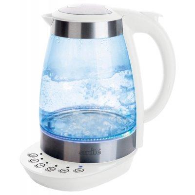 Электрический чайник Smile WK 5125 белый (WK 5125 белый)Электрические чайники Smile <br>чайник<br>объем 1.7 л<br>мощность 2000 Вт<br>закрытая спираль<br>установка на подставку в любом положении<br>корпус из пластика и стекла<br>выбор температуры нагрева воды<br>