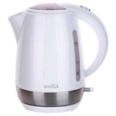 Электрический чайник Smile WK 5126 (WK 5126)Электрические чайники Smile <br>чайник<br>объем 1.7 л<br>мощность 2000 Вт<br>закрытая спираль<br>установка на подставку в любом положении<br>пластиковый корпус<br>индикация включения<br>