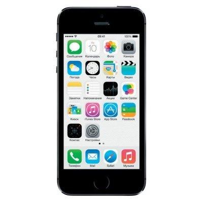 Смартфон Apple iPhone 5S 16Gb (ME432RU/A) серый (ME432RU/A)Смартфоны Apple<br>4(1136x640)Retina/ Apple A7/ 16Gb/ Wi-Fi/ 3G/ iOS<br>