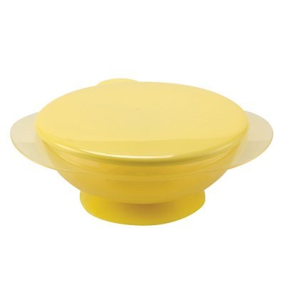Тарелка детская Happy Baby на присоске с крышкой EAT &amp; CARRY. желтый (EAT &amp; CARRY 15002 new yellow)Тарелки Happy Baby<br><br>
