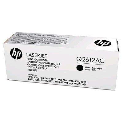 Тонер-картридж для лазерных аппаратов HP Q2612AC черный (Q2612AC)Тонер-картриджи для лазерных аппаратов HP<br>LJ 1010/1012/1015/1018/1020/1022 2000 в технологической упаковке<br>