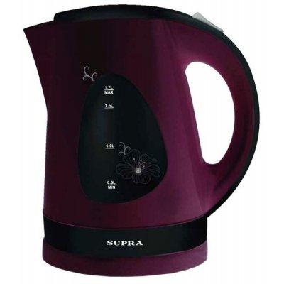 Электрический чайник Supra KES-1708 черный-вишневый (KES-1708 черный-вишневый) электрический чайник supra kes 2008 kes 2008