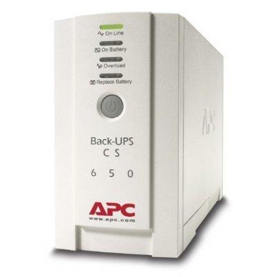 Источник бесперебойного питания APC Back-UPS CS 650VA 230V (BK650EI)Источники бесперебойного питания APC<br>650VA/400W 230V, DSL, fax, or modem protection Port DB-9 RS-232, USB<br>