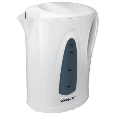 Электрический чайник Scarlett SC-EK14E01 белый (SC-EK14E01)Электрические чайники Scarlett<br>чайник<br>объем 1.7 л<br>мощность 2200 Вт<br>открытая спираль<br>жесткая фиксация на подставке<br>пластиковый корпус<br>вес 0.68 кг<br>