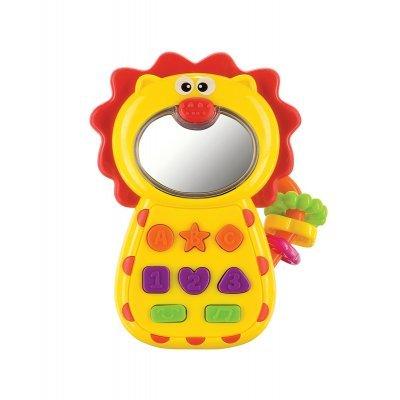 Прорезыватель Happy Baby Leo-Phone (Happy Baby LEO-PHONE)Прорезыватели Happy Baby<br>с музыкальными кнопками и световым зеркальцем<br>