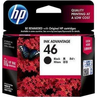 Картридж HP № 46 (CZ637AE)  черный (CZ637AE)Картриджи для струйных аппаратов HP<br>для Deskjet Ink Advantage 2020hc Printer / 2520hc AiO, черный<br>