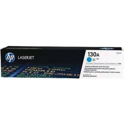 Тонер-картридж для лазерных аппаратов HP №130A (CF351A) голубой (CF351A)Тонер-картриджи для лазерных аппаратов HP<br>для M153/M176/M177<br>