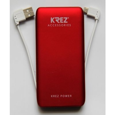 Внешний аккумулятор KREZ Power LP5001R, красный (LP500133AR)Внешние аккумуляторы для портативных устройств KREZ<br>Защита от перезаряда, защита от короткого замыкания в течение 1 мс<br>    Компактный и стильный дизайн, портативность и малый вес. Легко помещается в сумке или кармане<br>    Эффективная защита аккумулятора и электронных устройств с помощью встроенной системы контроля параметров зарядки – температуры, нап ...<br>