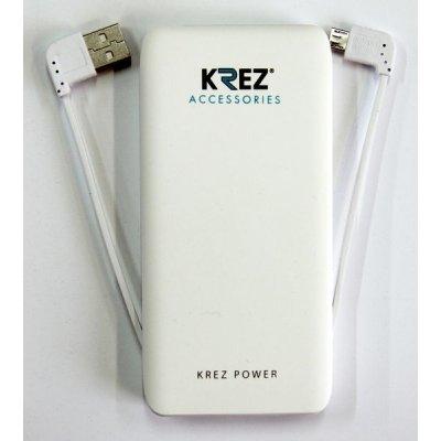 Внешний аккумулятор KREZ Power LP5001W, белый (LP500133AW)Внешние аккумуляторы для портативных устройств KREZ<br>Защита от перезаряда, защита от короткого замыкания в течение 1 мс<br>    Компактный и стильный дизайн, портативность и малый вес. Легко помещается в сумке или кармане<br>    Эффективная защита аккумулятора и электронных устройств с помощью встроенной системы контроля параметров зарядки – температуры, нап ...<br>