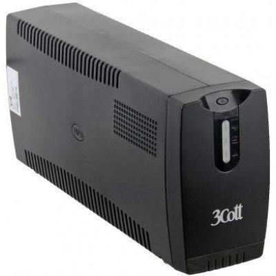 Источник бесперебойного питания 3Cott Micropower 800VA 480W AVR RJ-11 3*Shuko линейно-интерактивный (3Cott 800VA-3SE)