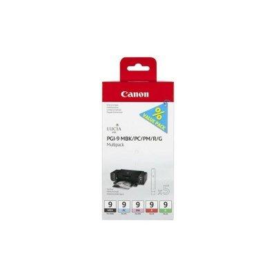 Картридж для струйных аппаратов Canon PGI-9 MBK/PC/PM/R/G (1033B013) (1033B013)Картриджи для струйных аппаратов Canon<br>для PIXMA Pro9500. Матовый чёрный, красный, зелёный, фотокартридж<br>