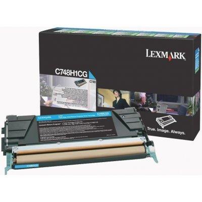 Тонер-картридж для лазерных аппаратов Lexmark C748H1CG Голубой картридж повышенной ёмкости для C748, 10K (LRP) (C748H1CG)