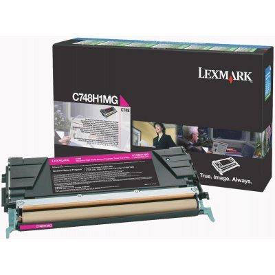 Тонер-картридж для лазерных аппаратов Lexmark C748H1MG Пурпурный картридж повышенной ёмкости для C748, 10K (LRP) (C748H1MG)