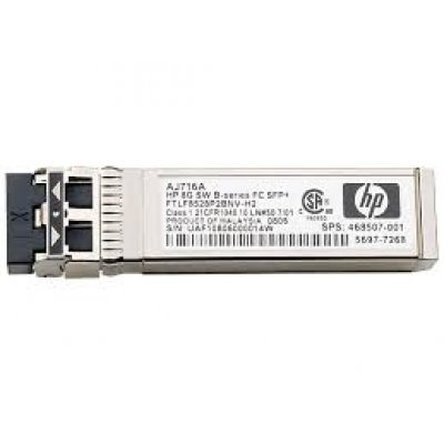 Трансивер HP MSA 2040 16Гб Fibre Channel SFP+ (C8R24A) (C8R24A)Контроллер дисковых массивов HP<br>(4Gb cache, 4xSAN ports (for 1/8/16Gb sfp), SFF8088 port for connect disk enclosures, no sfp, req. C8R23A or C8R24A)<br>