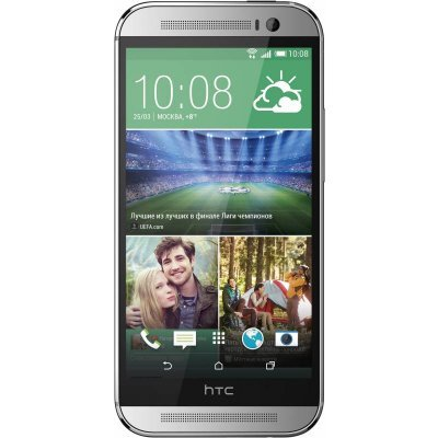 Смартфон HTC One M8 Dual SIM серебрянный (99HZV018-00)Смартфоны HTC<br>Qualcomm Snapdragon 801 (4 x 2.3GHz), 2 ГБ, 5,0 Full HD 1080p (1920x1080 440 ppi ),ОЗУ 16 ГБ, Android 4.4.2, 2 сим-карты (nano-sim), 146,36 x 70,6 x 9,35 мм<br>