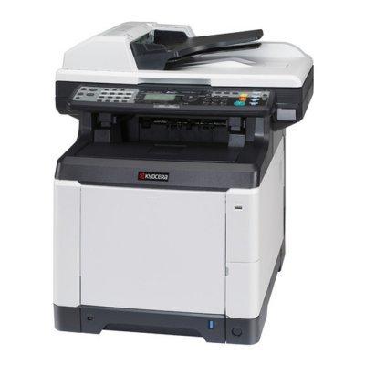 Цветной лазерный МФУ Kyocera ECOSYS M6526cdn (1102PW3NL0)Цветные лазерные МФУ Kyocera<br>МФУ Лазерный цветной Kyocera Ecosys M6526cdn (1102PW3NL0) A4 Duplex Net 26 стр копир/принтер/сканер/факс<br>