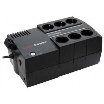 Источник бесперебойного питания CyberPower BS850 (BS850E)Источники бесперебойного питания CyberPower<br>тип: back, мощность: 850ВA, интерфейс USB, розетки сбатарейной поддержкой: EURO: 3шт.<br>