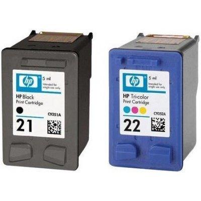 Картридж для струйных аппаратов HP SD367AE (№21) (C9351АE + C9352AE) черный+ цветной   (Набор) (SD367AE)Картриджи для струйных аппаратов HP<br>HP SD367AE - необходимый расходный материал для вашей оргтехники. Комплект восстановит высокое качество печати и прослужит вам максимально долго. Советуем приобрести сразу несколько картриджей, чтобы не тратить время в будущем на повторный заказ и ожидание товара, когда ресурс предыдущей покупки под ...<br>