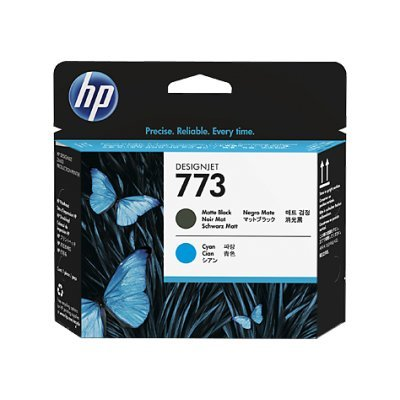 Печатающая головка HP № 773 матовая черная и голубая (C1Q20A)  для DJ Z6600/Z6800 (C1Q20A)Печатающие головки HP<br><br>